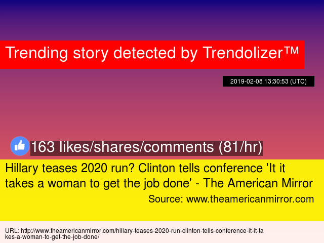 Hillary teases 2020 run? Clinton tells conference '
