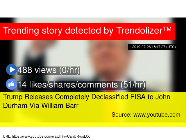 Trump Releases Completely Declassified FISA to John Durham