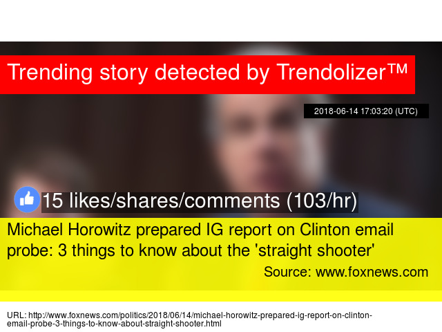 Michael Horowitz prepared IG report on Clinton email probe: 3 things